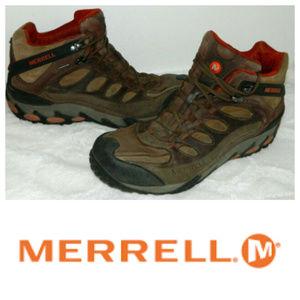 MERRELL Refuge Core HIKING BOOTS Mens 11.5 LEATHER